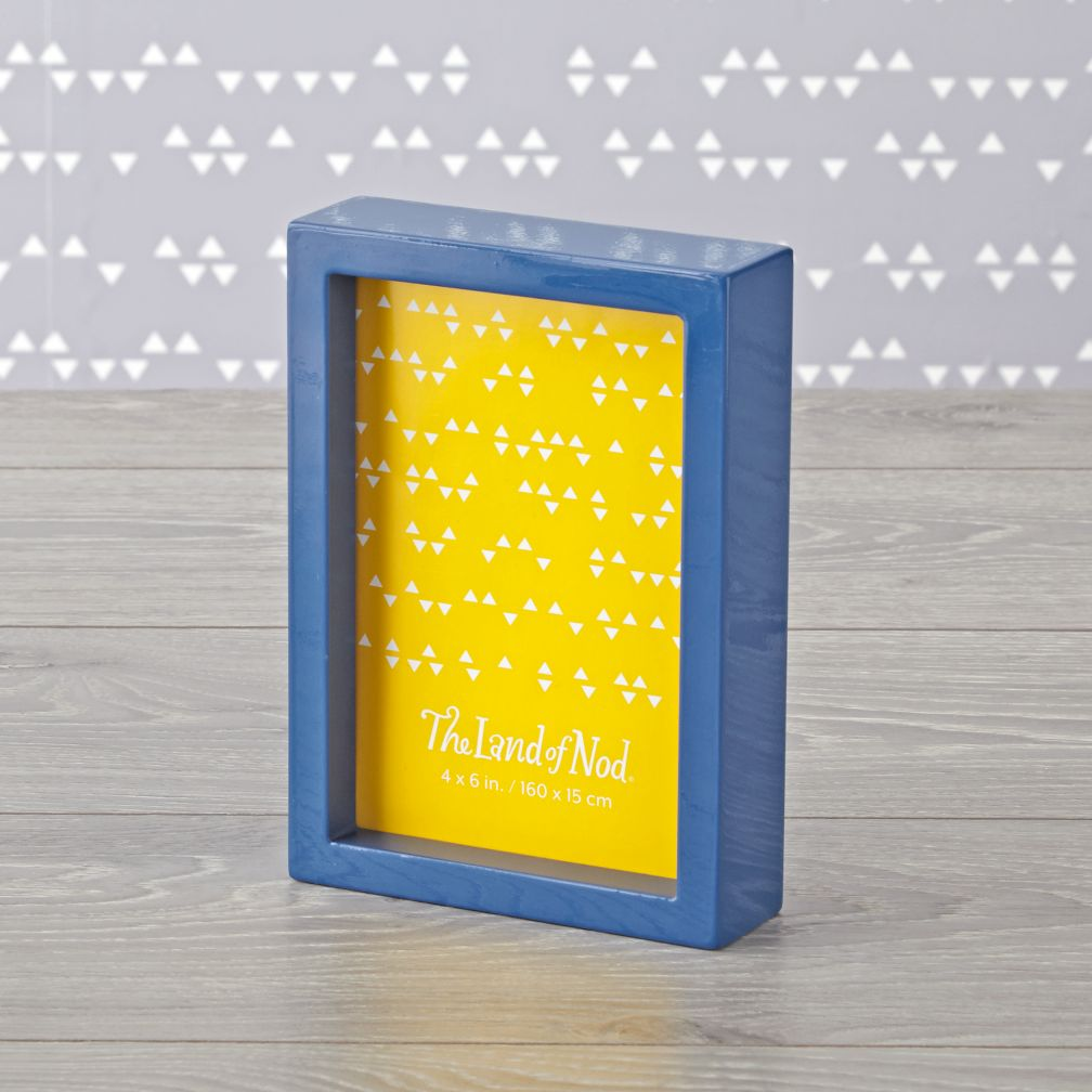 blue box photo frame 4 x 6 - Yellow Picture Frame