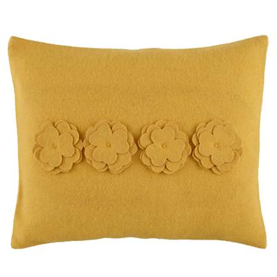 Bedding Bouquet Throw Pillow (Yellow)