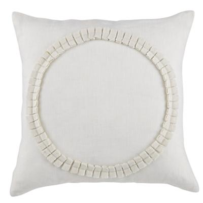 Pleated Circle Throw Pillow