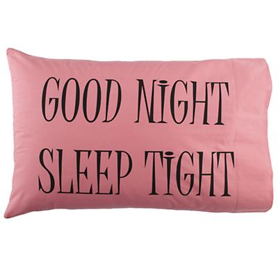 Good Night Pillowcase (Pink)