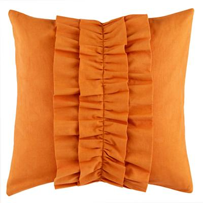Ruffle Throw Pillow (Dk. Orange)