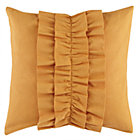 Lt. Orange Ruffle Throw Pillow