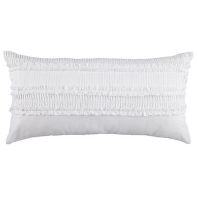 White Ruffle Throw Pillow