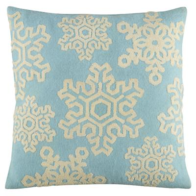 Fresh Powder Throw Pillow Cover
