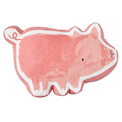 Wild Excursion Pig Throw Pillow