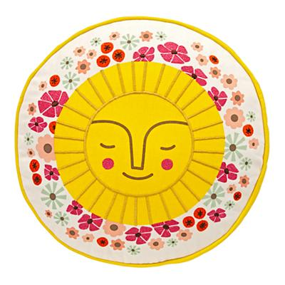 Floral Sun Throw Pillow