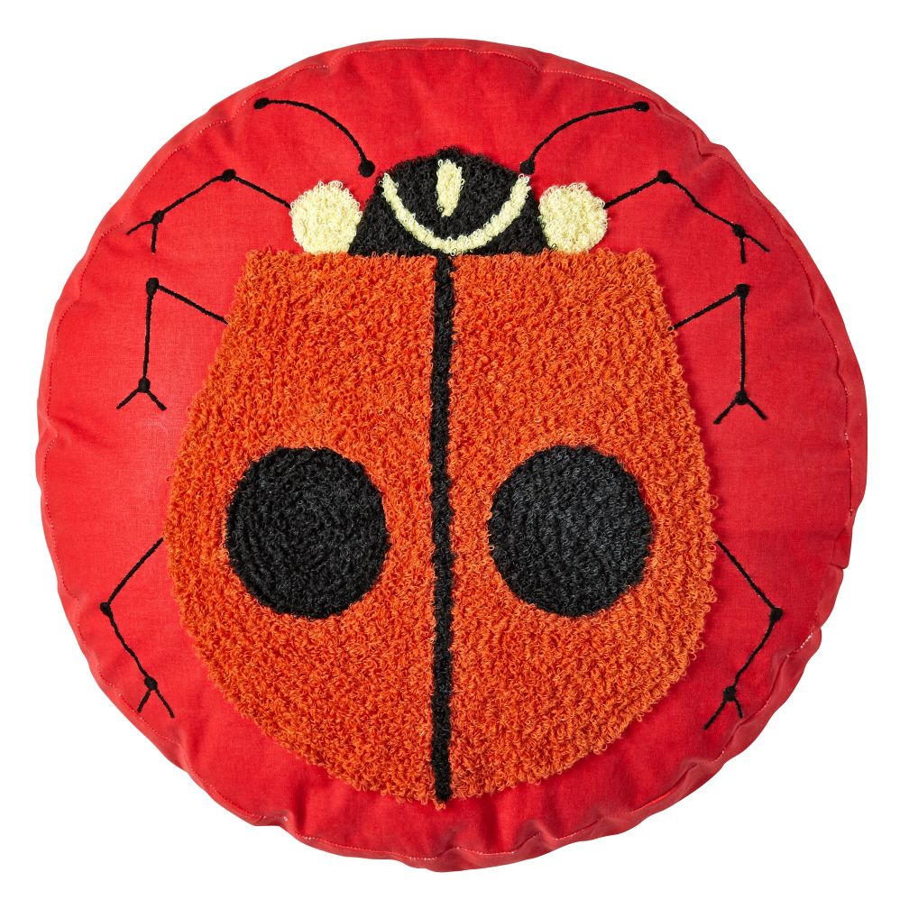 Charley Harper Ladybug Throw Pillow