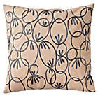 Trellis Print Throw Pillow