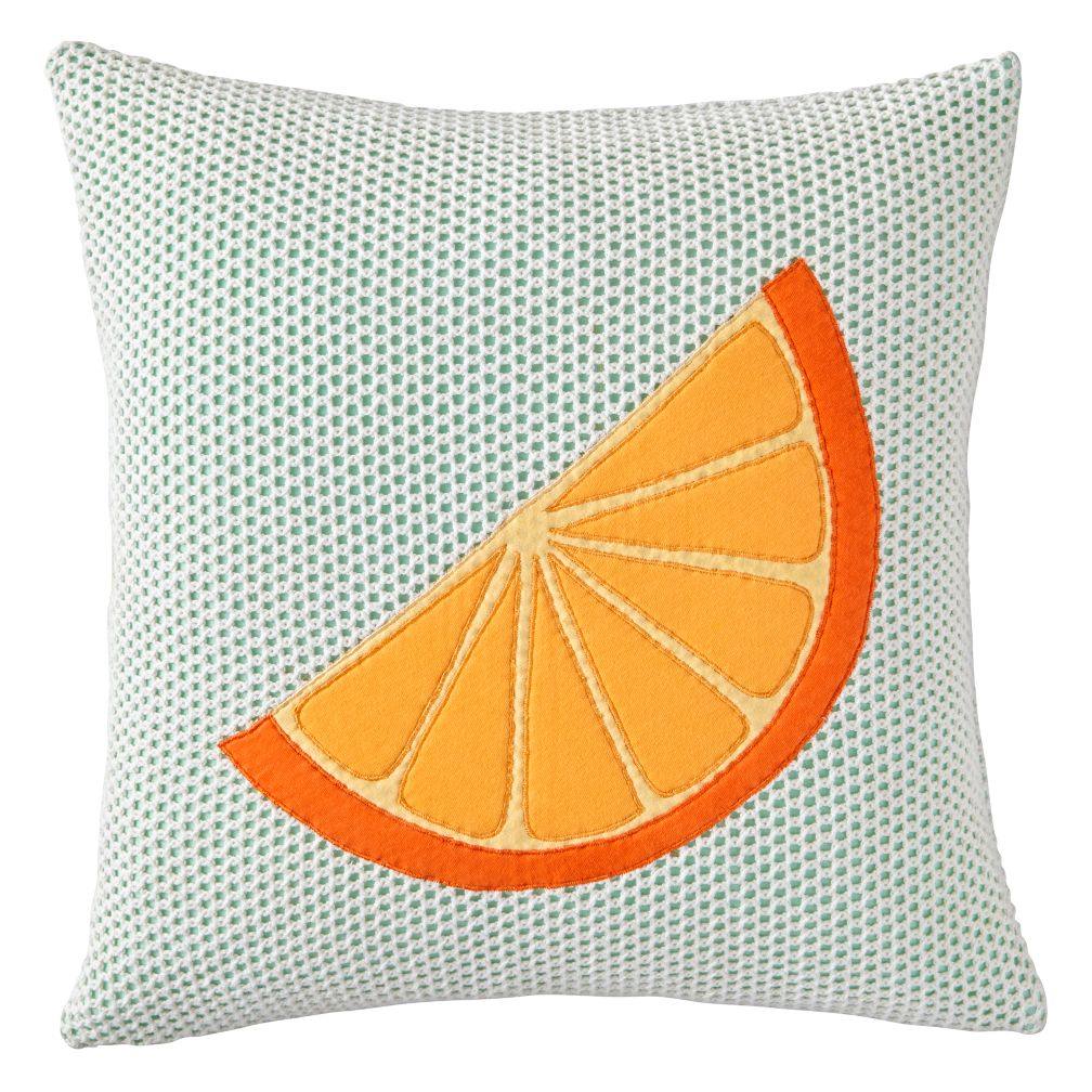 Orange Slice Throw Pillow