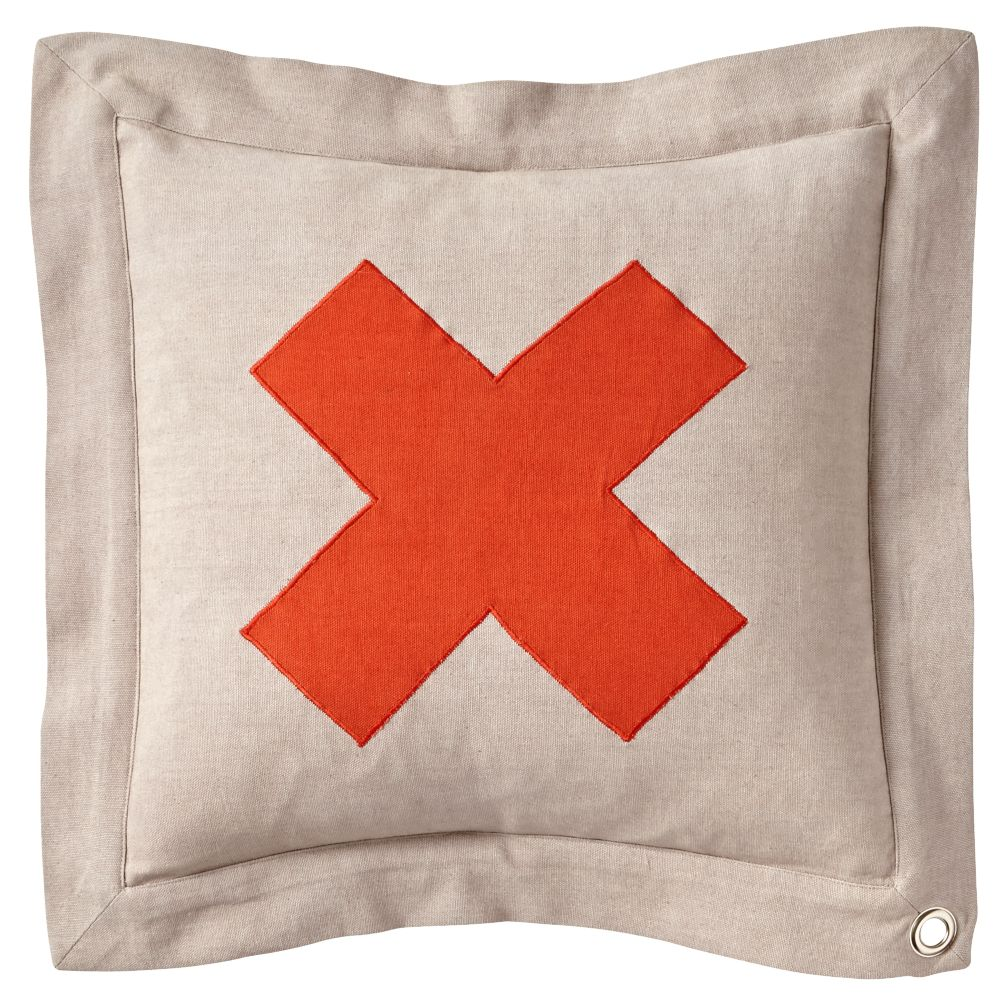 X Throw Pillow Cover Only