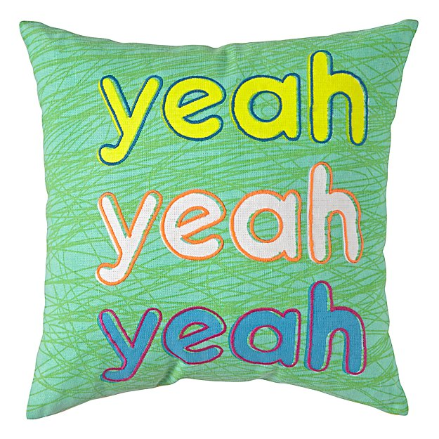 Yeah Throw Pillow