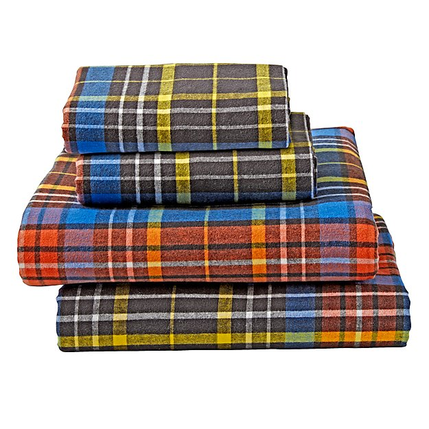 Tartan Plaid Flannel Queen Sheet Set