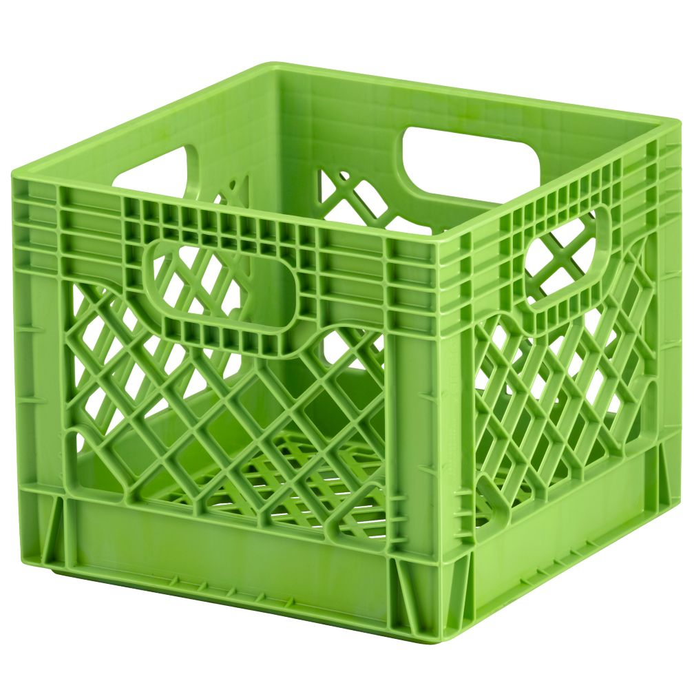 green milk crate storage the land of nod