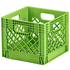 Green Milk Crate