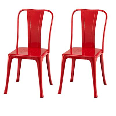 Set of Two Iron Rich Play Chairs (Red)