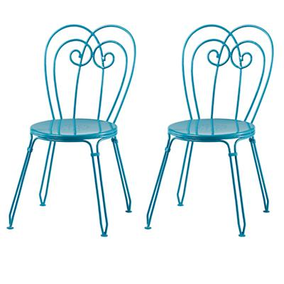 Turquoise Looking Glass Play Chairs (Set of 2)