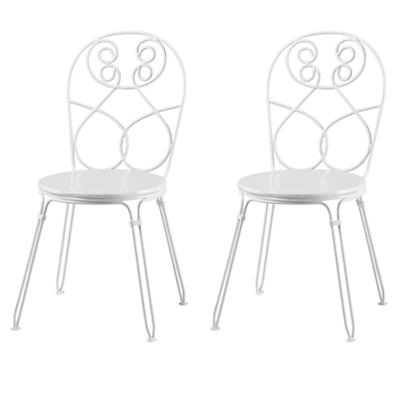 White Looking Glass Play Chairs (Set of 2)