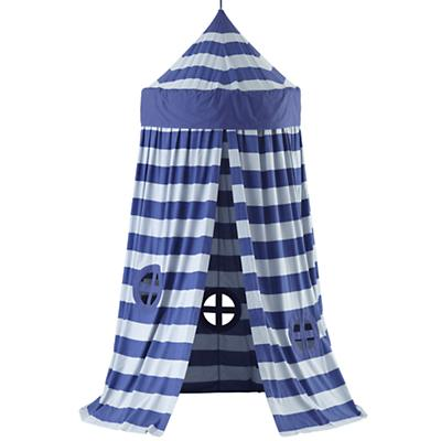 Home Sweet Play Home Canopy (Blue Stripe)