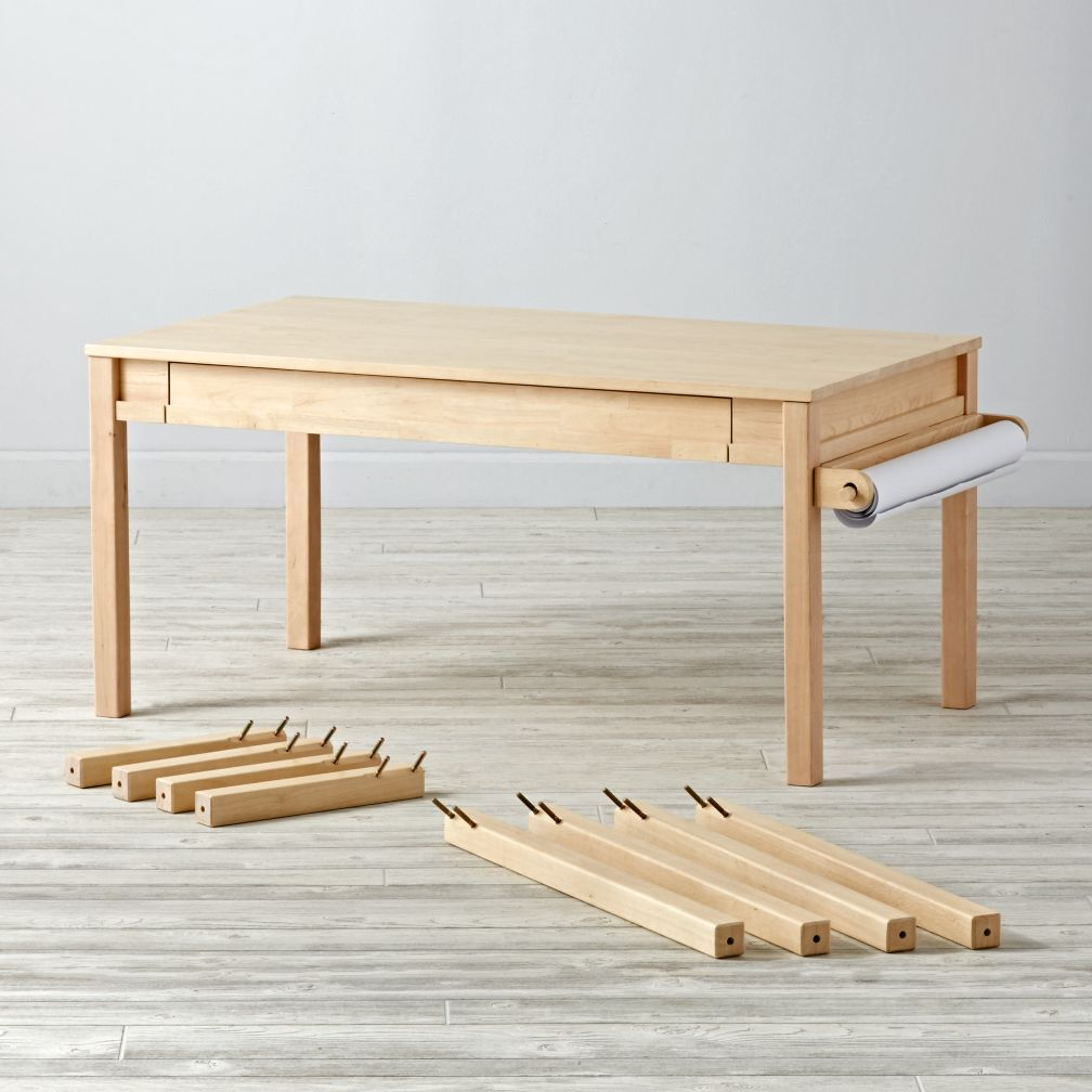 Complete Adjustable Natural Activity Table Set