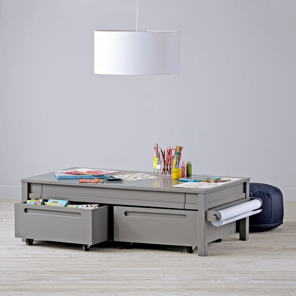 small adjustable activity table grey the land of nod. Black Bedroom Furniture Sets. Home Design Ideas