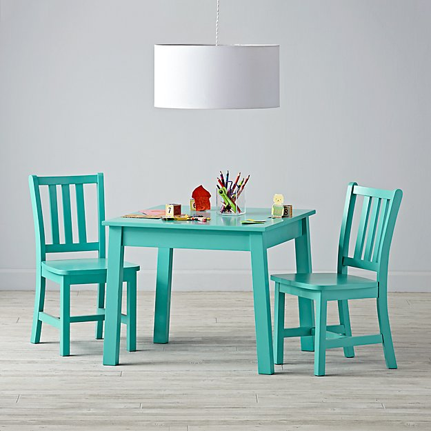 Anywhere Square Azure Play Table and Chairs Set