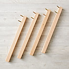 Set of 4 Medium Adjustable Natural Activity Table Legs