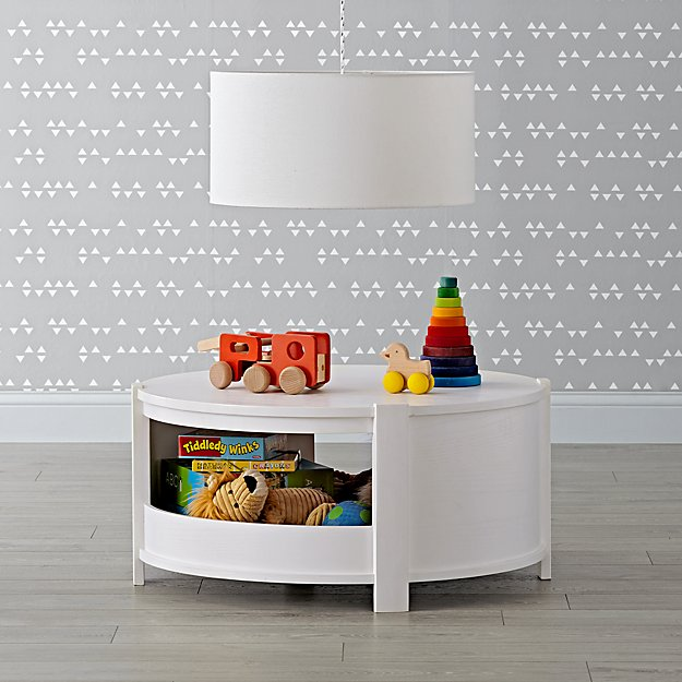 Rotunda White Glaze Kids Table