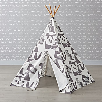 Large Grey Abstract Teepee