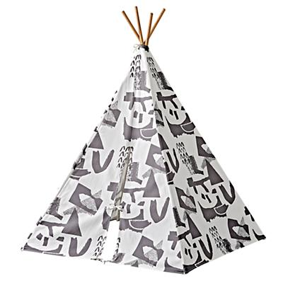 Playhouse_Large_Grey_Abstract_Teepee_Silo