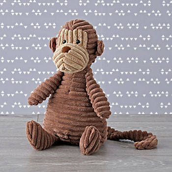Jellycat Brown Corduroy Monkey Stuffed Animal