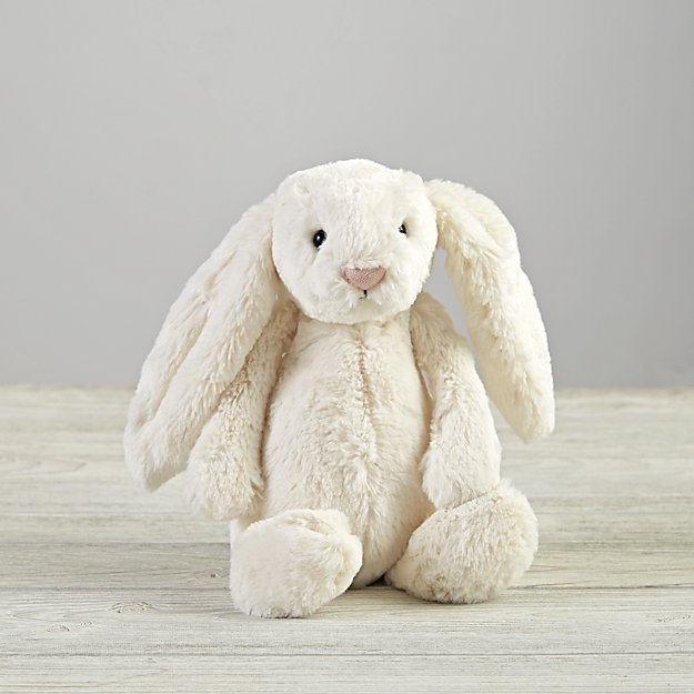 Jellycat White Bunny Stuffed Animal
