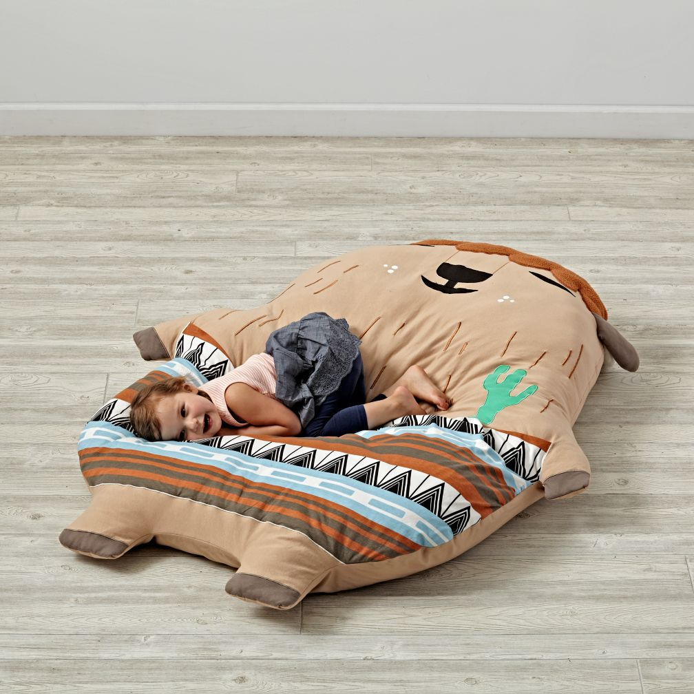 Big Animal Floor Pillows : Large Soft Sidekick Plush Buffalo The Land of Nod
