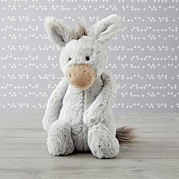 Jellycat Medium Grey Donkey Stuffed Animal