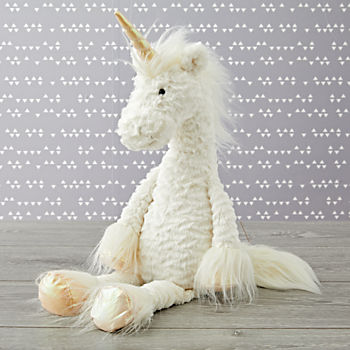 Jellycat Large Furry Unicorn Stuffed Animal