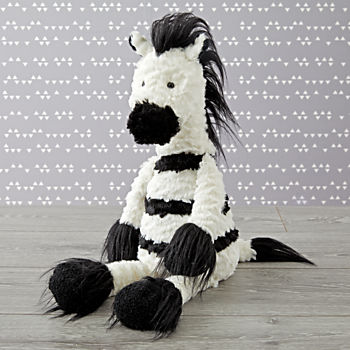 Jellycat Large Furry Zebra Stuffed Animal