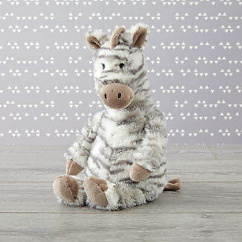 Jellycat Medium Grey Zebra Stuffed Animal