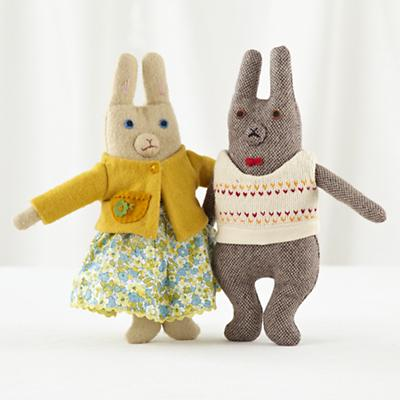 Mr and Mrs Bunny Set of 2