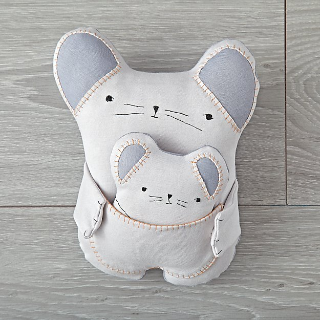 Plush Mouse Pair by Kata Golda