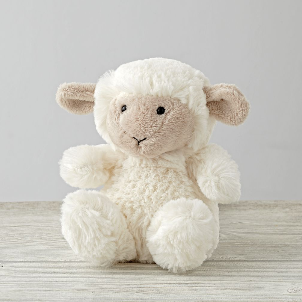 Small stuffed animal sheep the land of nod for Small stuffed chairs