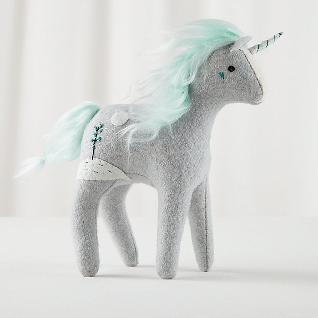 Mythical Edition Plush Unicorn (Grey)