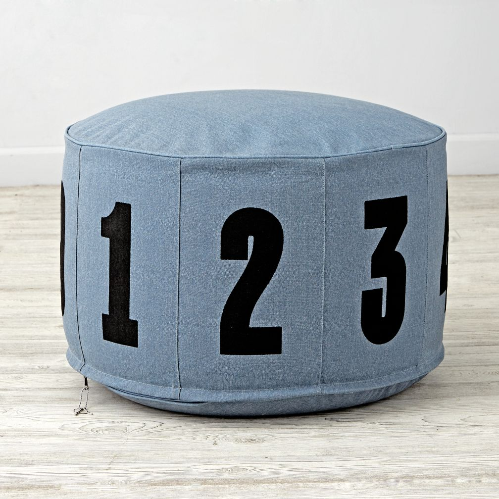 Perfect Blue Block Numbered Pouf $79.97 Reg. $99.00 Free Shipping Eligible Part 6