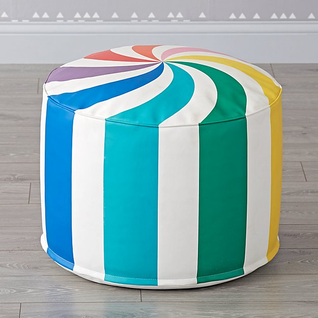 Dylan's Candy Bar Rainbow Candy Pouf