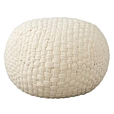 Pouf_Knit_Basketweave_White_Silo
