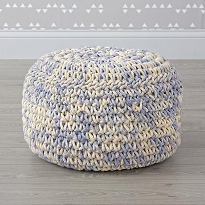 Pouf_Knit_Blue_White