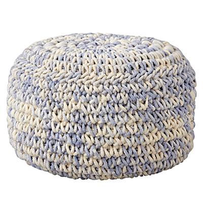 Pouf_Knit_Blue_White_Silo