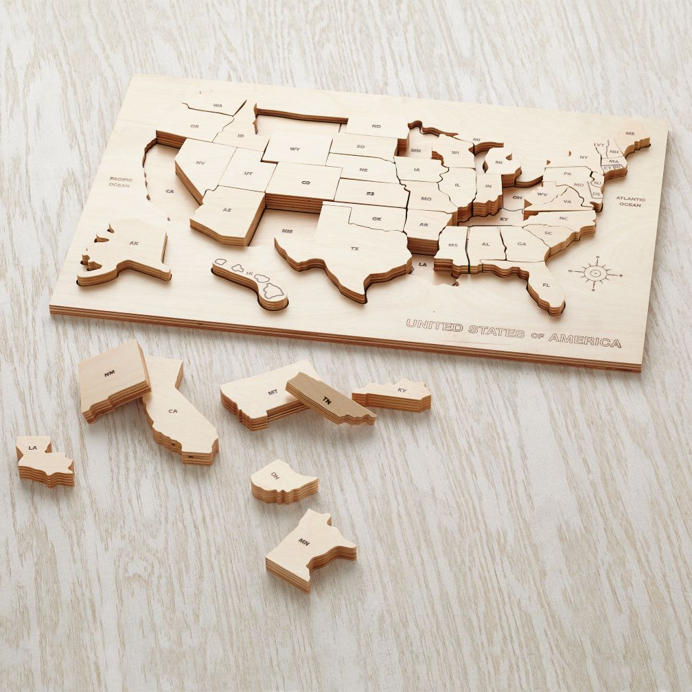 My Puzzle Tis Of Thee The Land Of Nod - Puzzle us map