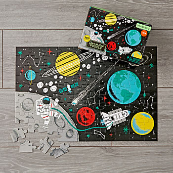 Glow in the Dark Outer Space 100-Piece Puzzle