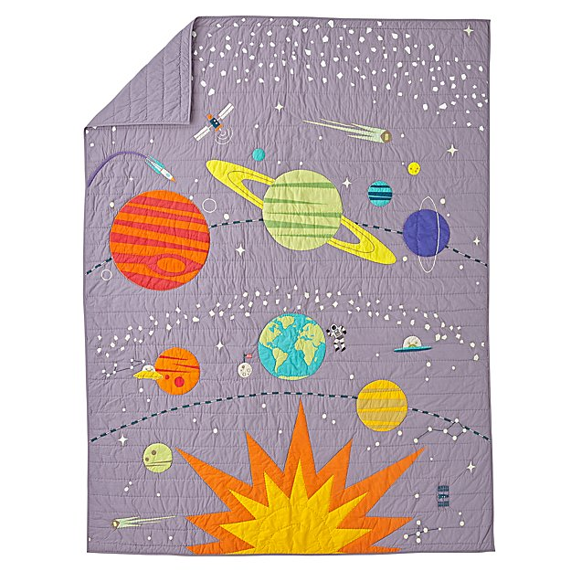 Cosmos Glow in the Dark Twin Quilt