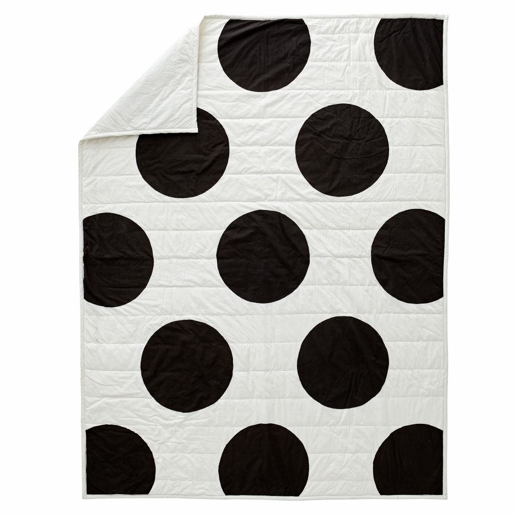 White Polka Dot Full- Queen Quilt