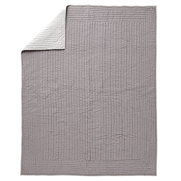 Stitched Grey Full-Queen Blanket